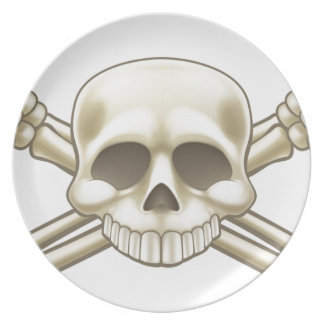 Skull and Crossbones Pirate Sign Plate
