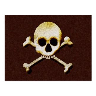 Skull And Crossbones Post Card
