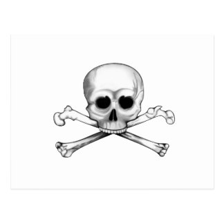 Skull and Crossbones Postcard