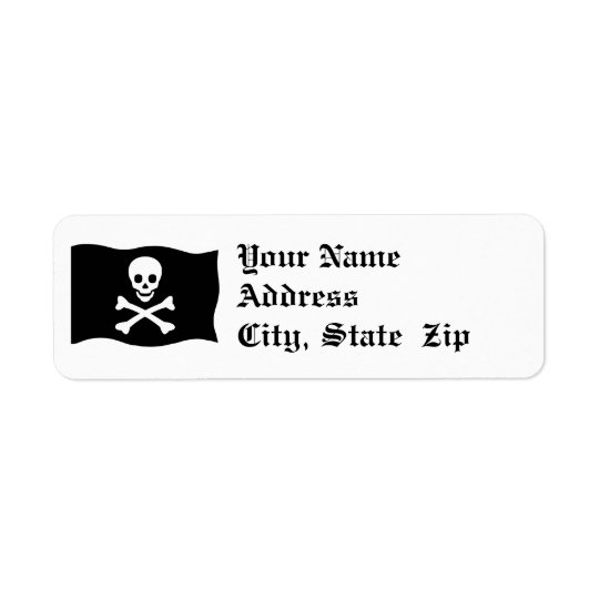 Skull and Crossbones Return Address Label