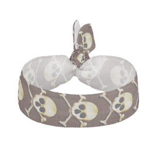 Skull And Crossbones Scary Halloween Dress Up Hair Tie