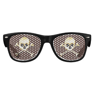 Skull And Crossbones Scary Halloween Dress Up Kids Sunglasses