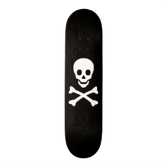Skull and Crossbones Skate Board Deck