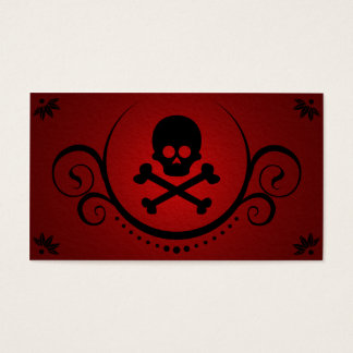 skull and crossbones sophistications business card