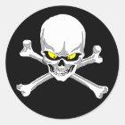 Skull and crossbones stickers