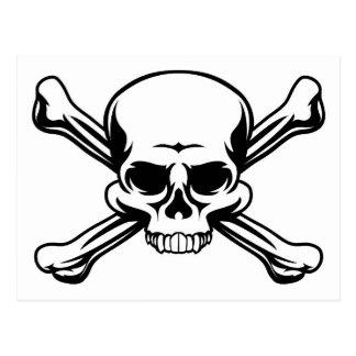 Skull and Crossbones Symbol Postcard