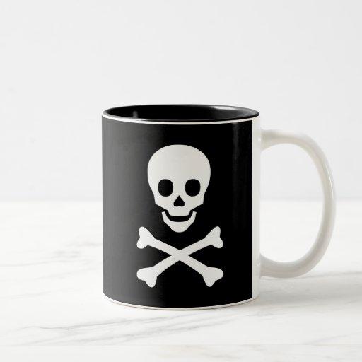 Skull and Crossbones Two-Tone Mug