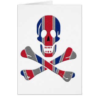 Skull and Crossbones Union Jack Card