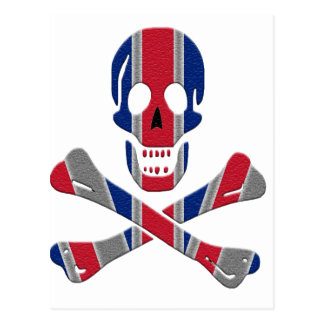 Skull and Crossbones Union Jack Postcard