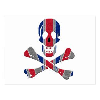 Skull and Crossbones Union Jack Postcard