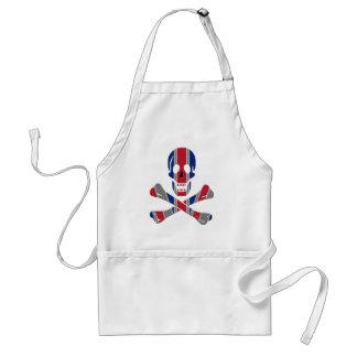 Skull and Crossbones Union Jack Standard Apron