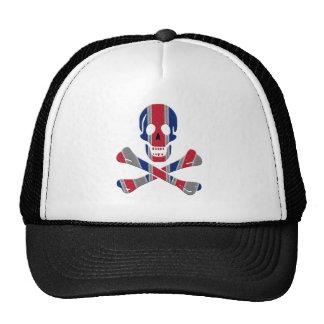 Skull and Crossbones Union Jack Trucker Hat