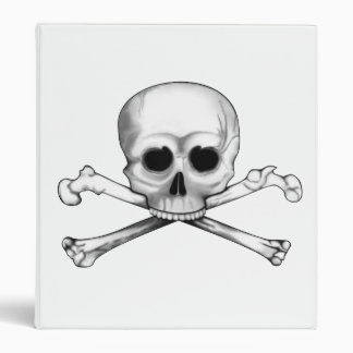 Skull and Crossbones Vinyl Binder