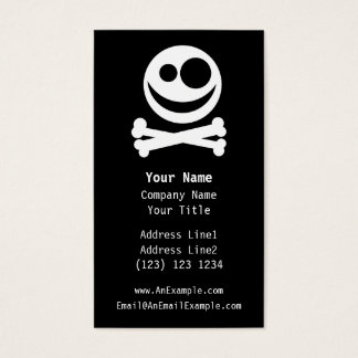 Skull and Crossbones. White and Black. Business Card