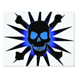 Skull and Crossbones with Starburst Card