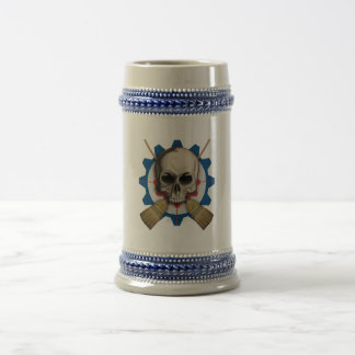 Skull and Crossbrooms - Curling Design Beer Stein