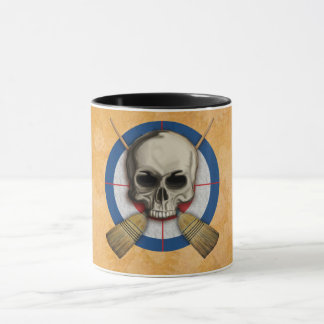 Skull and Crossbrooms - Curling Design Mug