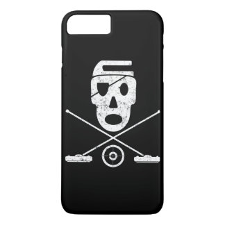 Skull and Crossbrooms - Jolly Roger Curling Design iPhone 8 Plus/7 Plus Case