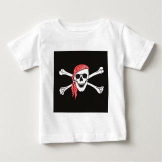 Skull and Crossed Bones Pirate Flag Baby T-Shirt
