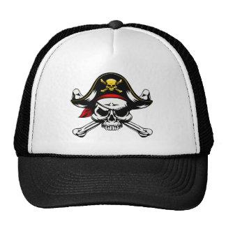 Skull and Crossed Bones Pirate Trucker Hat