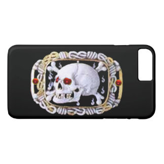 SKULL AND CROSSED BONES RUBY  RENAISSANCE JEWEL iPhone 8 PLUS/7 PLUS CASE