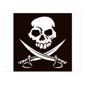 Skull and Crossed Swords Postcard