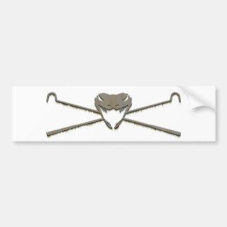 Skull and Crosshooks Bumper Sticker