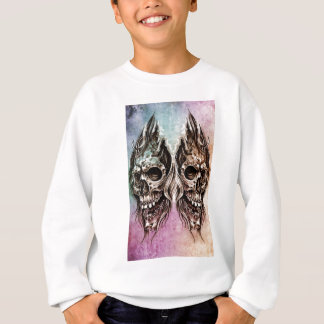 skull and dragons, Tattoo sketch, handmade design Sweatshirt