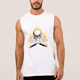 Skull and Flaming Spatulas Sleeveless Shirt