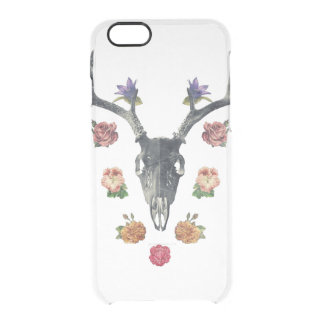 #Skull and #flowers Clear iPhone 6/6S Case