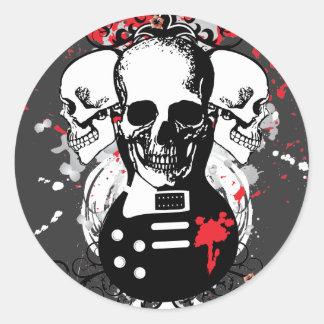 Skull and Guitar Sticker