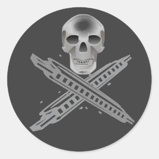 Skull and Harpbones Sticker