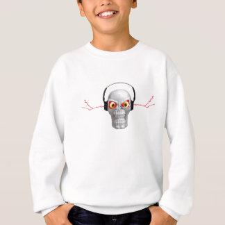 skull and headphones with lightning from ears sweatshirt