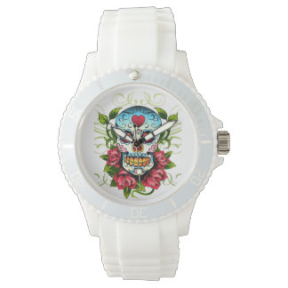 skull and hearts watch