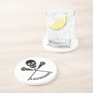 Skull and Lacrosse Sticks Drink Coaster