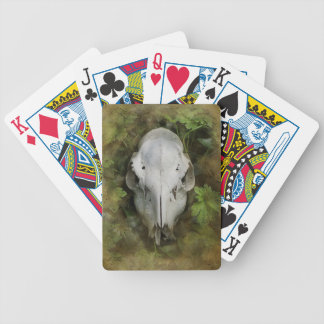 Skull and Leaves Bicycle Playing Cards