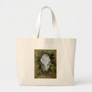 Skull and Leaves Large Tote Bag
