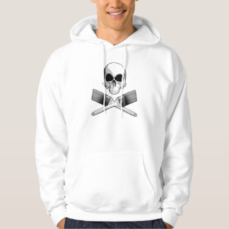 Skull and Paint Brushes Hoodie