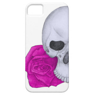 Skull and Pink Roses iPhone 5 Case