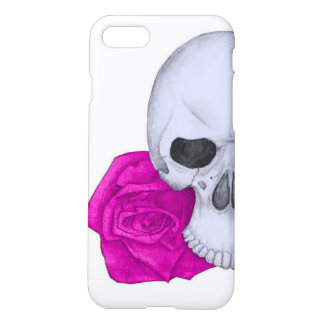 Skull and Pink Roses iPhone 8/7 Case