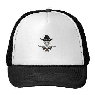 SKULL AND PISTOLS TRUCKER HAT