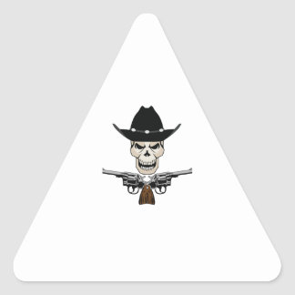 SKULL AND PISTOLS TRIANGLE STICKERS