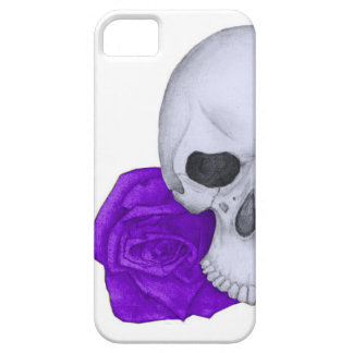 Skull and Purple Roses Case For The iPhone 5