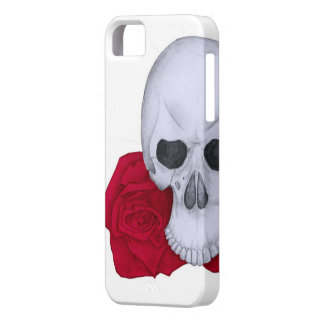 Skull and Red Roses iPhone 5 Covers
