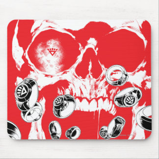 Skull and Rings - Red Mouse Pad