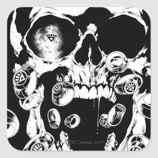 Skull and Rings Square Sticker