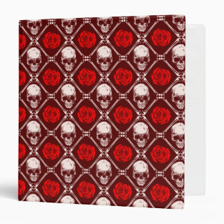 skull and roses 3 ring binder