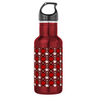 skull and roses 532 ml water bottle