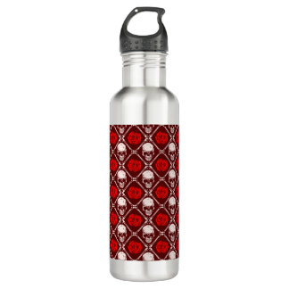 skull and roses 710 ml water bottle
