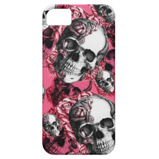 Skull and Roses Barely There I phone Case